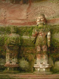 Leshan Giant Buddha area, Sichuan,China