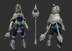 Dota 2 - Crystal Maiden - Snowdrop : Highpoly by ~Anuxinamoon on deviantART