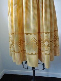Vintage Dress 1950's 1960's Home Sewn Mustard by EadoVintage, $55.00