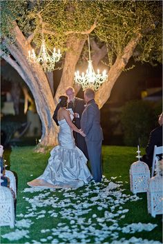 night time wedding ceremony. Ugh I want this. This is exactly how I see it in my head!