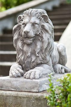 Lion Statue. I want several of these amid the gardens of my future home and two guarding my front door, all of them as large as life itself.