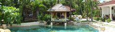 Relax in the gazebo overhanging the pool@life-retreats.com