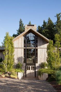 Beautiful Portland Barn House Design Melds With Extensive Natural Gardens