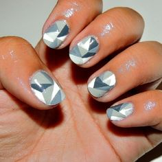 Gray Nail Polish Art