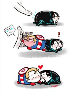 Read (Stony) Mini cómic Tsum Tsum Steve el protector from the story Spideypool Cómics by with reads. Stony Avengers, Baby Avengers, Avengers Comics, Marvel Jokes, Avengers Memes, Marvel Funny, Spideypool Comic, Superfamily Avengers, Stony Superfamily