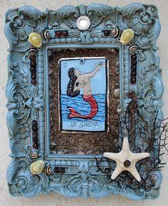 Rita's La Sirena Altar Shrine  Ebb en Flow by RitaSpiritualGoods