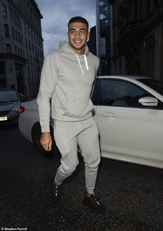 Keeping it casual: Also making his entrance to the Manchester event was boxer Tommy Fury w. Fine Boys, Fine Men, Cute Lightskinned Boys, My Boys, Boys With Curly Hair, Man Party, Attractive Men, My Crush, Good Looking Men