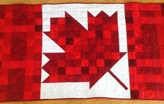 Canadian Flag Quilt made by Janice Mawhiney Priest, 2015. Pattern by Ruby Pearl Quilts, Oshawa Ontario. #Canada 150 quilt