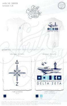 Delta Zeta | DZ | Nautical Theme | Compas Theme | May the Winds Never Lead You Astray | South by Sea | Greek Tee Shirts | Greek Tank Tops | Custom Apparel Design | Custom Greek Apparel | Sorority Tee Shirts | Sorority Tanks | Sorority Shirt Designs