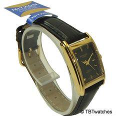 Miykon Dress style Square Face watches for women gold tone and black dial - 2 #Miykon #Fashion