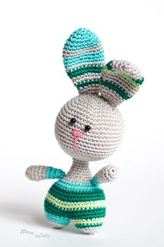 #funny #cute #bunny #Amigurumi, #crocheted bunny, #Toy #rabbit, #plush bunny, soft toy, for #nursery, #photo #props, #handmade #gift for #kids #Easter #Easterbunny #PetsLair