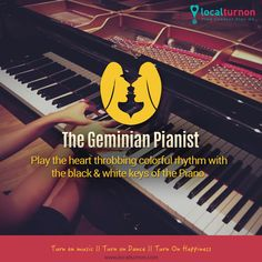 #musicandstars The Geminian Pianist The piano keys are black and white but the music which comes out of it is a soul wrenching amalgamation of different colors. A divine rhythm for the compassionate and sensitive Gemini in you, indeed, a perfect combination.
