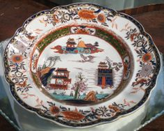 Antique Masons Ironstone : A large and substantial Stew / Soup Plate