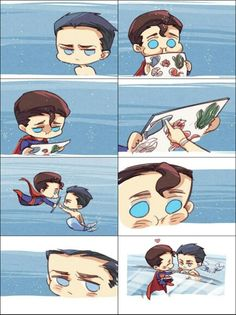 Short story of Superman saving Mermaid Bruce and bringing him back to The Fortress of Solitude part 3