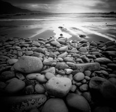 beach~ black and white
