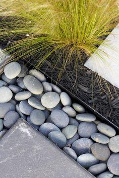 rock, grass, bark -- garden texture do this for extra decor in your garden