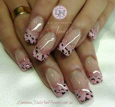Luminous Nails and Beauty - Gold Coast - Queensland - Acrylic Nails - Gel Nails - Acrylic Gel Nail Art Design Gallery - Acrylic Gel Nail Design Photos - Nail Art Images Cute Nail Art Designs, Cheetah Nail Designs, Leopard Print Nails, Colorful Nail Designs, Acrylic Nail Designs, Pink Leopard, Acrylic Nails, Pink Zebra, Pale Pink