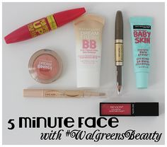 5 minute face Awesome 5 Minute Face from Lipgloss and Crayons! I will have to do this for my beauty routine this fall! Love It!