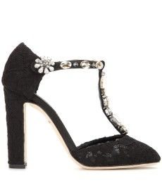 Dolce & Gabbana - Crystal-embellished lace pumps - mytheresa.com