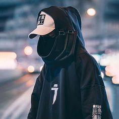 Cyberpunk Clothes, Cyberpunk Fashion, Dope Fashion, Korean Fashion, Mens Fashion, Japanese Streetwear, Streetwear Fashion, Pull, Cool Outfits