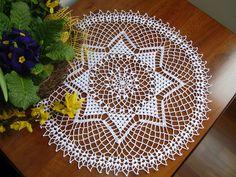 Centro pizzo stella francese ad uncinetto stella di natale idea regalo natale addobbi matrimonio cotone bianco decorazione casa by MondoTSK on Etsy