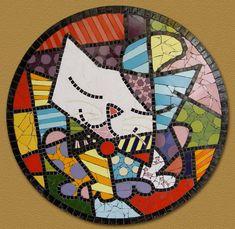 Quadro em mosaico art pop