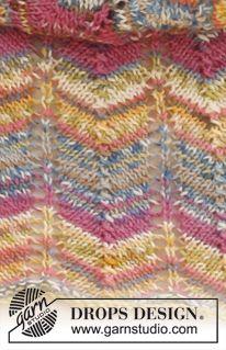 Bibliothèque de points DROPS: Points texturés Knitting Paterns, Lace Knitting, Knitting Stitches, Drops Design, Tunisian Crochet, Knit Crochet, Magazine Drops, Missoni, Shawl