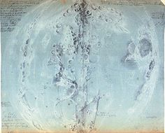 [][][] Giandomenico Cassini (1625-1712)  Original drawings of the Moon, 1671-1679.   Paris, Observatoire de Paris, inv. Ms D-VI-40, f. 52.   These drawings are part of the great atlas of the Moon (ca. 60 drawings) produced in collaboration with two artists, Sébastien Leclerc and Jean Patigny. Cassini used black pencil to record on most of the maps the date, time and circumstances in which he made his observations.