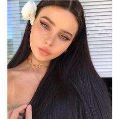 U-Part Lace Front Wigs Brazilian Human Hair straight Long Wigs hair drawing – Hair Models-Hair Styles Make Up Looks, Beauty Make-up, Hair Beauty, Beauty Ideas, Beauty Tips, Cute Makeup, Hair Makeup, Cat Eye Makeup, Pinterest Makeup