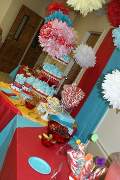 Thing 1 and Thing 2 Dr Seuss Party