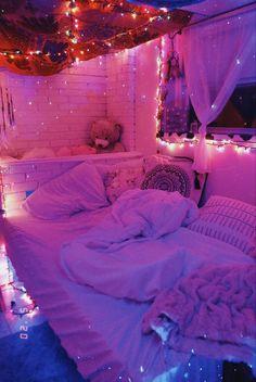 Neon Bedroom, Cute Bedroom Decor, Room Design Bedroom, Room Ideas Bedroom, Bedroom Inspo, Wall Decor, Chill Room, Cozy Room, Aesthetic Bedroom