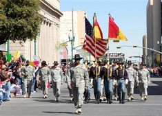 Army Col. Stephen Twitty, commander of 4th Brigade Combat Team, 1st Cavalry Division, leads more than 3,000 of his soldiers through the streets of downtown El Paso, Texas, during a Welcome Home Heroes Parade, Feb. 27, 2008. Photo by Staff Sgt Paula Taylor, USA