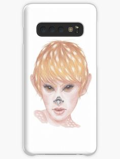A6 coloured pencil drawing. • Millions of unique designs by independent artists. Find your thing. Deer Girl, Girl Cases, Galaxy Design, Style Snaps, Sell Your Art, Protective Cases, Colored Pencils, Pencil Drawings, Finding Yourself