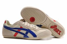 Onitsuka Tiger Whizzer Lo Shoes Beige Royal Blue Red