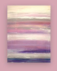 """Acrylic Abstract Painting Fine Art on Gallery Canvas Titled: MISSING YOU 30x40x1.5"""" by Ora Birenbaum"""