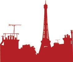 Sticker Sur Les Toits Paris - Création Paristic