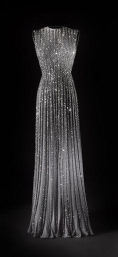 Dress: prom dress, silver dress, formal dress, shiny dress - Wheretoget