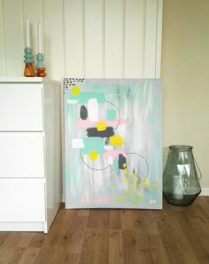 Abstract art, acrylics