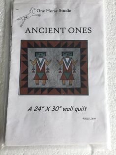 Ancient Ones Southwest Wall Quilt Sewing Pattern by Vntgfindz
