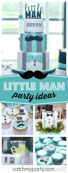 Check out this awesome Little Man 1st birthday party! The cakepops are so cool!! See more party ideas and share yours at CatchMyParty.com  #littleman #mustache #1stbirthday