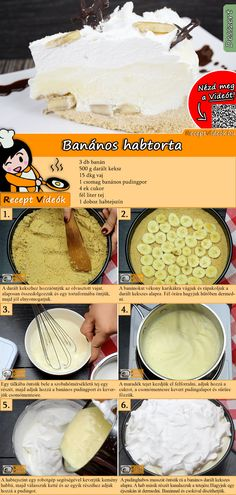 How about a delicious banana cream cake? The banana cream cake recipe video is easy to find using the QR code :) bake How about a delicious banana cream cake? The banana cream cake recipe video is easy to find using the QR code :) # Banana Dessert Recipes, Milk Recipes, Healthy Dessert Recipes, Cheesecake Recipes, Baking Recipes, Lemon Bar, Banana Cream Cakes, Winter Food, No Bake Cake