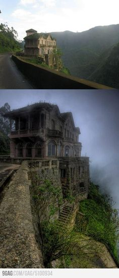 Abandoned hotel. Don't know if it's real or photo shopped but it does make me want to renovate.