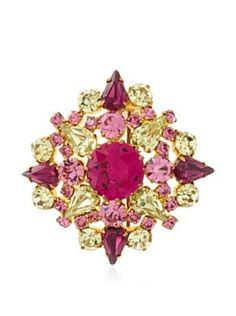 LULU FROST BROOCHES | Lulu Frost 1920's Art Deco Pink Brooch | Art Deco