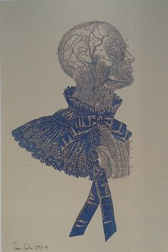 In 1997 McQueen's art director Simon Costin combined the late Victorian costumes McQueen was then looking at, with a series of animated skeletons & muscle men from the sixteenth-century anatomical plates of Andreas Vesalius