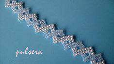 DIY - Pulsera novia de perlas y cristalitosDIY - Pearl bracelet with pea...
