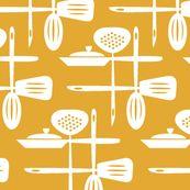 Kitchenwares Retro White Butterscotch