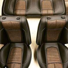 Likes, 32 Comments - The Hog Ring Custom Car Interior, Car Interior Design, Truck Interior, Interior Trim, Car Interior Upholstery, Automotive Upholstery, Vw T3 Syncro, Volkswagen, Leather Seat Covers
