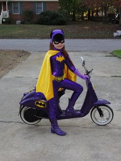 Awesome Batgirl Costume and Scooter