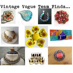 Vintage Vogue Team Finds...Mother's Day Gift Ideas by martinimermaid on Polyvore featuring vintage #vogueteam #mothersdaygiftideas