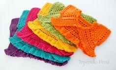 #Crochet paso a paso: bolero mariposa para bebés y niñas! Explicación de 6 tallas :)